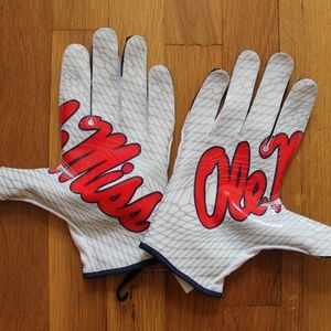 NEW Nike Vapor Knit 2 Ole Miss Football Gloves 4XL